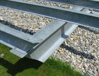 Terrasse Unterkonstruktion Stahl Verzinkt Belag Tropenholz Garappa ...